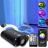 AMKI 16W RGBW Fiber Optic Curtain Light Kit, Flash Point Waterfall Effect Lighting Kids Children Sensory Room Home Decoration 0.03in/0.75mm 13.1ft/4m 450pcs