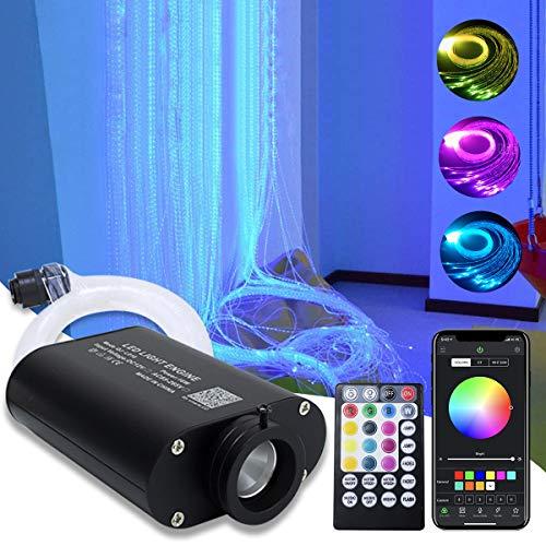 16W RGBW Fiber Optic Curtain Light Kit, Flash Point Waterfall Effect Lighting Kids Children Sensory Room Home Decoration 0.03in/0.75mm 13.1ft/4m 450pcs