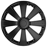Car Plus 8050RSB RST Black - Juego de 4 tapacubos de alta calidad color negro, 16 Pulgadas