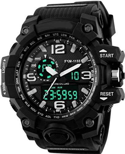 SKMEI Analogue-Digital Men's Watch (Black Dial Black Colored Strap)