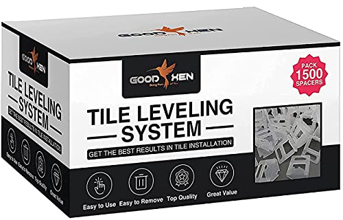 """GoodXen Tile Leveling System 1/8 Inch Clips – 1500 PCS Tile Spacers 1/8"""" (3mm). Tile Leveling Clips 1/8"""" for Tile and Ceramic – Tile Spacers and Levelers for Tiling Installation Tools."""