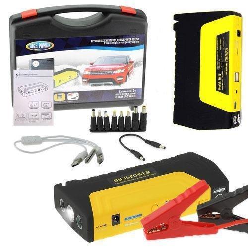 FLM Avviatore Power Bank Portatile Giallo di Emergenza Auto Batteria Booster Starter