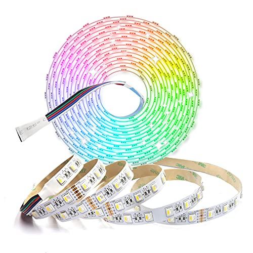 Arotelicht Striscia LED 5M 24V RGBWW cambia colore strisce LED bianco caldo 5050 SMD 60 LED/m non impermeabile decorazione striscia luminosa catena luminosa per casa, stanza, festa