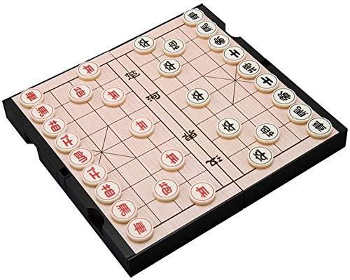 WJHCDDA Ajedrez magnetico Ajedrez Madera Gran Grano Natural grieta Resistencia al Tratamiento de ajedrez al Estudiante Entrenamiento Chino ajedrez Duradero