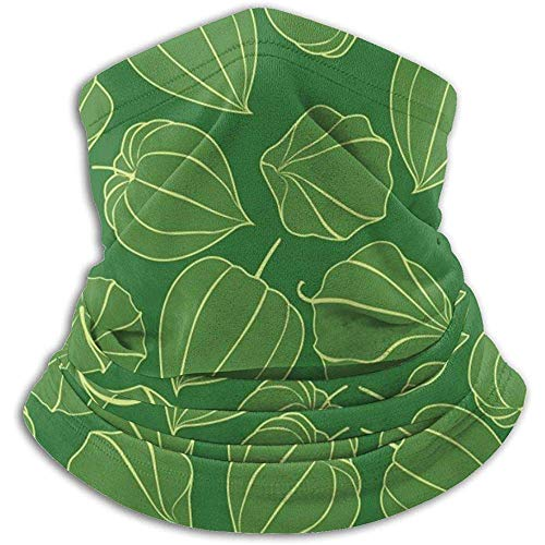 Linger In Green Fruits Pattern Neck Gaiter Face Mask Bandana Seamless Headband Ski Riding Running