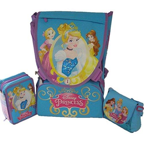 Principesse Disney Set 2016 Zaino, Astuccio Accessoriato e Borsetta