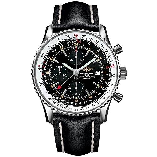Larghezza Ling uomo-Orologio da polso cronografo AUTOMATICO pelle navi timer A2432212/B726/441X