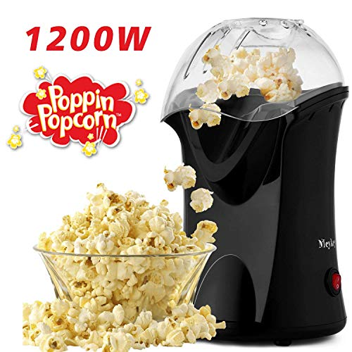 Find Bargain Hot Air Popcorn Machine, 1200 W Popcorn Popper, Electric Popcorn Maker with Measuring C...