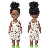 Muñeca Negro Afroamericana Realista Muñecas para niños Juguetes para niños,Juguete de Navidad, Regalos de Cumpleaños para Niños y Niñas,35 cm
