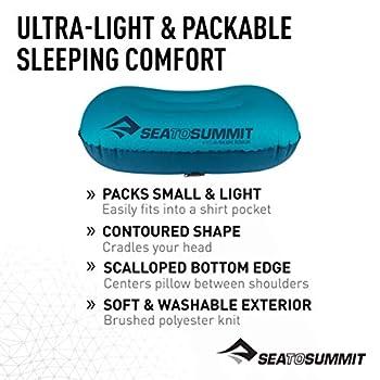 Sea to Summit Aeros Ultralight Pillow Regular Coussin de Voyage 573 Aqua Blue 36 x 26 x 12 cm
