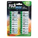 Fuji J10-4400CL24 Enviromax AAA Digital Alkaline Batteries (24 Pk), One Size Fits All, White