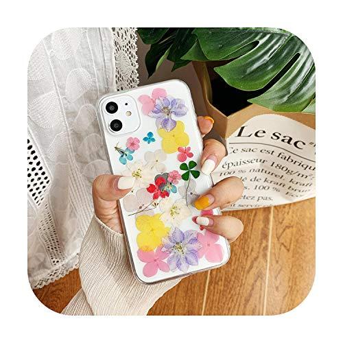 RaCarrot - Cover per iPhone X XS Max XR 6 6S 7 8 Plus 11 Pro Max SE 2020 fatta a mano morbida fiore fresco copertura 11-per iPhone 8 Plus