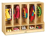 Jonti-Craft 6684JC Toddler 5 Section Coat Locker with Step Without Cubbie-Trays...