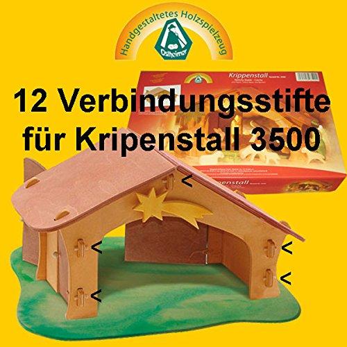 Verbindungsstifte 12 Stück für Krippenstall 3500 Krippe Ostheimer 35013