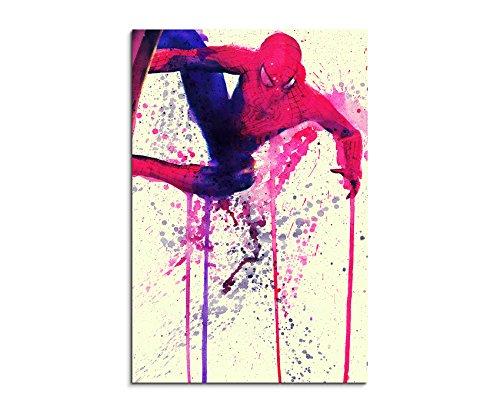 Spiderman_90x60cm Paul Sinus Art Wandbild Aquarell Unikat Kunst Bild wie Gemälde Kunstdruck