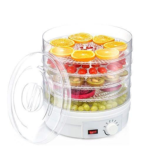 LHZHG Deshidratador de Alimentos,deshidratadora de Frutas y Verduras con 5 Bandejas Ajustables, Temperatura Regulable 35-70 Grados, para Verduras Carne Flores, BPA Free, 350W