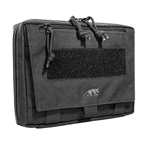 Tasmanian Tiger TT EDC Pouch Molle-kompatible Rucksack Organizer Zusatz-Tasche für Werkzeug und Medic Erste Hilfe Set mit Patch-Fläche (Schwarz)