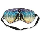 Schlafmaske für Damen & Herren, Regenbogen-Mandala, Yoga, 7 Chakren, indisch, Augenmaske zum Schlafen, ultra-weich, atmungsaktiv, Augenmaske, Verdunkelung für vollständige Dunkelheit