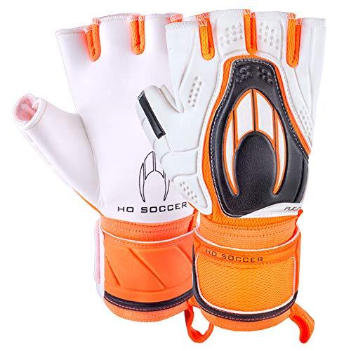 HO Soccer Futsal Orange Torwarthandschuhe, Unisex Erwachsene, weiß/orange/schwarz, 10