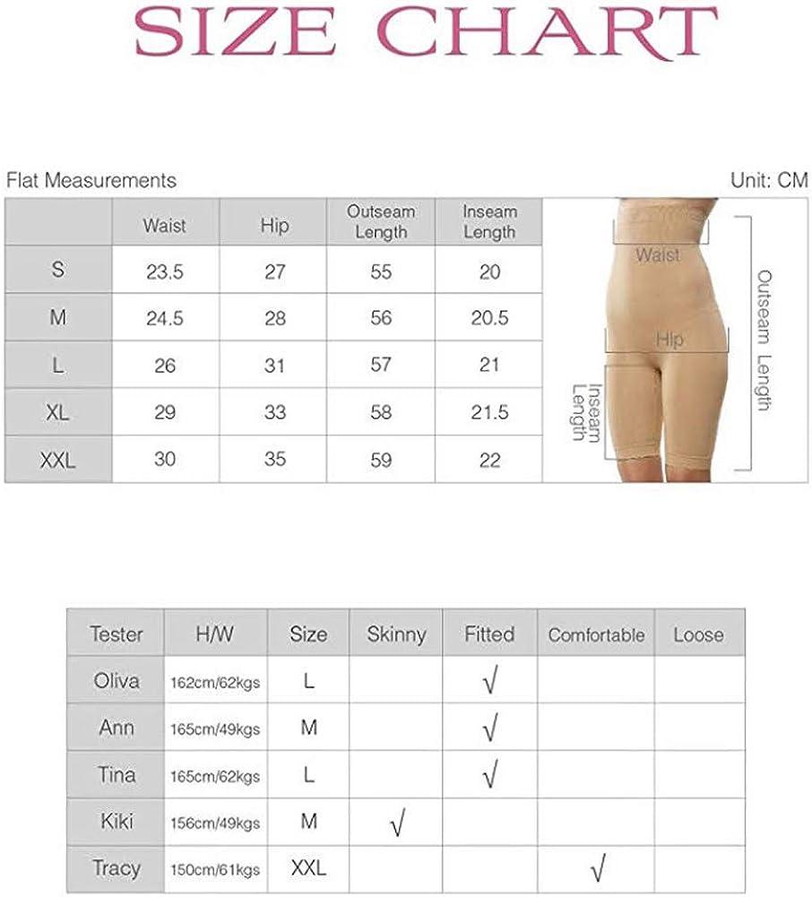 Fay Fay Womens High Waist Shapewear Slimming Tummy Control Mid Thigh Short