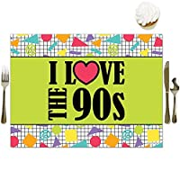 Big Dot of Happiness 90's Throwback - Party Table Decorations - 1990s Party Placemats - Set of 16 [並行輸入品]