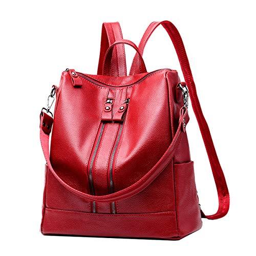 NIYUTA Donna Borse a zainetto viaggio moda casual scuola Borse a spalla marca zaino IT127 Rosa Rossa
