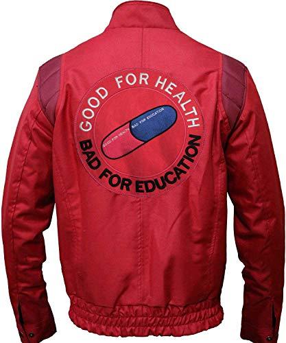 Mens Akira Shotaro Kaneda Cosplay Costume Capsule Logo Red Cotton Bomber Jacket