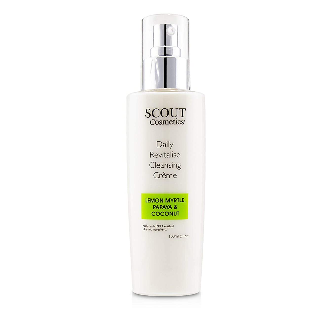 可能にするフォアマン肯定的SCOUT Cosmetics Daily Revitalise Cleansing Creme with Lemon Myrtle, Papaya & Coconut 150ml/5.1oz並行輸入品