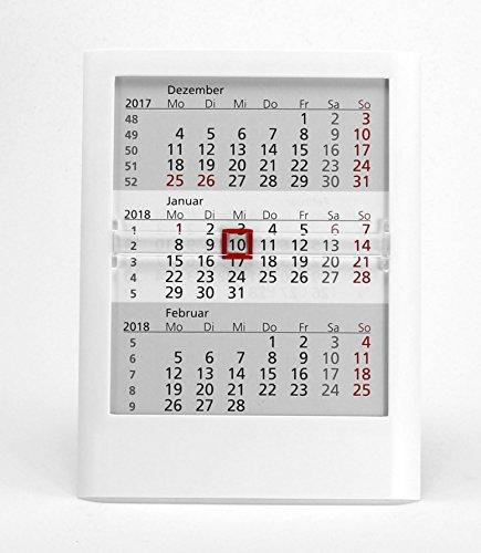 HiCuCo 3-Monats-Tischkalender für 3 Jahre (2020, 2021 und 2022) - Aufstellkalender - weiß - TypW1