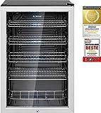 Bomann KSG 7283 Glastürkühlschrank, 115 Liter, LED Innenraumbeleuchtung (separat schaltbar), wechselbarer Türanschlag, Energieeffizient E, schwarz - 6