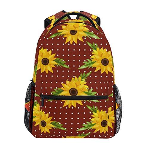 Kunstbloemen zonnebloem potten schouder rugzak boektas voor tieners jongens meisjes kinderrugzak laptop boektas rugzakken
