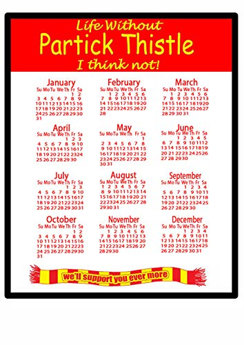 Partick Thistle - 2021 calendar Mouse mat - useful gift for football fans