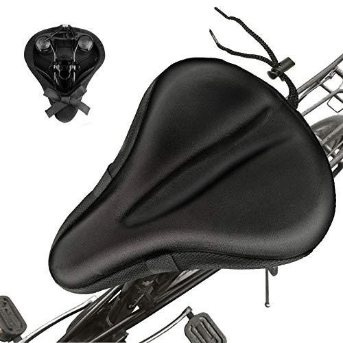 Dealswin Fahrrad Sattelbezug gel - Fahrradsattel Überzug gepolstert - Extra bequemer bike seat cushion für Outdoor Mountainbike Sitz und Rennrad Sattelschutz und Indoor-Fahrräder