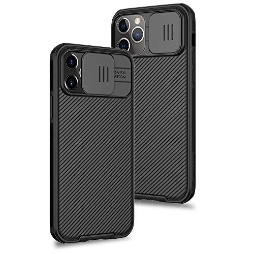 XTCASE Funda para iPhone 12 Pro MAX Protección de la cámara Carcasa Cubierta de cámara Deslizante Proteger Ultra-Delgado Híbrida PC Anti-Choque Anti-arañazos - Negro