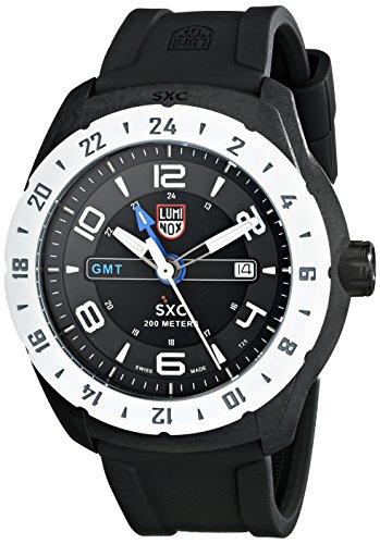 Luminox Men's 5021.GN SXC PC Carbon GMT Analog Display Quartz Black Watch