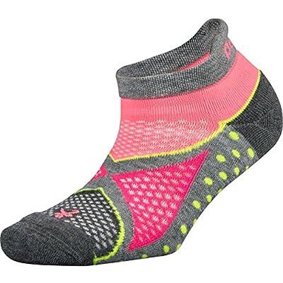 Balega Women's Enduro No Show Socks (1 Pair), Midgrey/Sherbet Pink, Medium