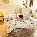 DJLOOKK Colchón de futón de Gran tamaño, colchón de Suelo japonés Grande, tapete de Tatami Grueso, Almohadilla de colchón Enrollable Plegable para Dormir,Sun Flower,200x220cm