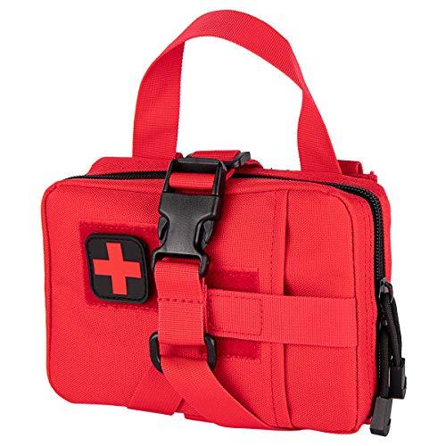 Shidan Rip-Away Rapide Tactique Molle Médicale EMT Poche Pochette de Premiers Soins Utilitaire (Rouge)