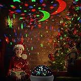 Sternenhimmel Projektor, mixigoo LED Projektor Lampe 360°Rotierend Baby Nachtlicht mit 8 Farben Beleuchtung und USB Kabel Sternenprojektor für Kinderzimmer, Party, Festival Dekor, Weihnachten   Weiß