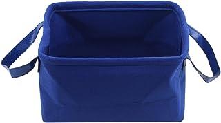 Générique FEITeng Feutre Panier De Rangement Boîte De Rangement Panier Bin pour Vêtements Chambre Bureau Placard,Bleu