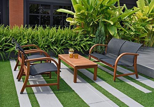 Hot Sale Amazonia 4-Piece Manhattan Eucalyptus Deep Seating Set