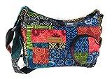 Macha Sac à bandoulière en coton pour femme Style indien ethnique(XL) (multicolore)
