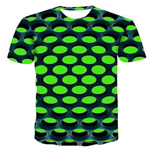 Kurzarm Sommer New 3D T-Shirt Männer Kurzarmhemd T-Shirts Dreidimensionales Muster 3Dt-Shirt Herren Street Freizeitkleidung XXL Dz-033