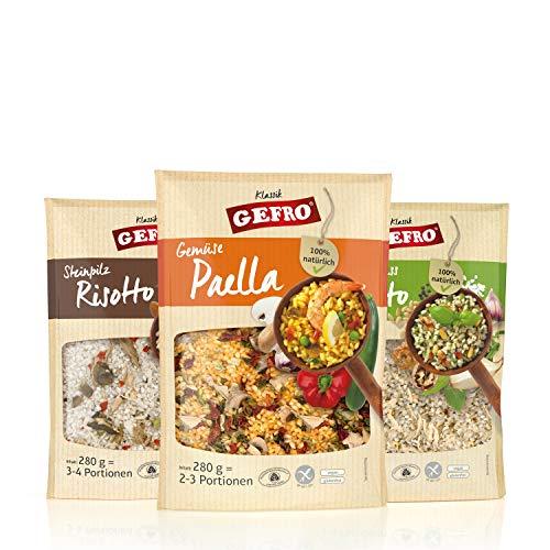 GEFRO Reisspezialitäten / Risotto, glutenfrei, vegan und ohne Gentechnik (Gemischtes Set, 3x 280g)