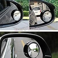 WQSNUB 2Pcs自動車死角デッドゾーンミラーリアビュースモールラウンドミラーオートサイド360広角ラウンドコンベックス
