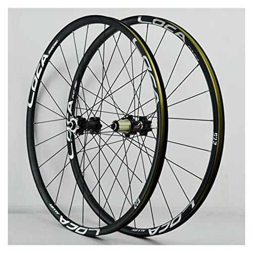 Mountain Bike Wheelset 26 27.5 29 pulgadas liberación rápida aleación de aluminio freno de freno de freno de ciclismo ruedas de bicicleta 24 orificios RIM 8-12 velocidad ( Color : D , Size : 29IN )