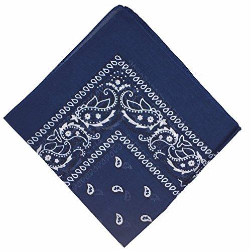 Boolavard 50% di sconto - nazionale cotone Paisley Bandana doppio lato testa Wrap sciarpa Wristband fazzoletto da collo
