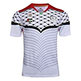 MGRH 16-17 Palestine Rugby Jersey, Supporter Football Sport Top, Classique Rugby T-Shirt, en Vrac, Respirant, à séchage Rapide (S-3TG) White-M