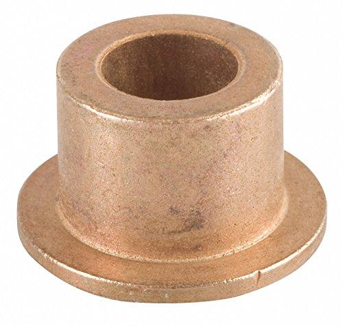 "Bunting Bearings DPEF061008 Dri Plane (C) Flange Bearings, Powdered Metal, 3/8"" Bore x 5/8"" OD x 1/2"" Length x 7/8"" Flange OD x 1/16"" Flange Thickness (Pack of 3) Bronze"