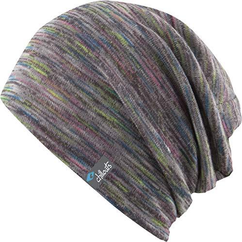 CHILLOUTS Longbeanie Freetown Hat hochwertige Hüte Mützen und Caps für Herren Damen und Kinder in 3 Farben, Farbe:Grey neon (FRT 02)